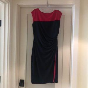 Navy blue and Red Chaps dress